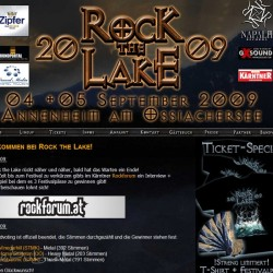 Rock the Lake 2009 Website