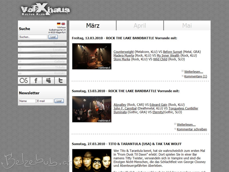 Volxhaus-Website